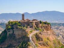 Civita di Bagnoregio, Italien arkivbilder