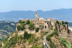 Civita di Bagnoregio (Italien) Arkivbilder