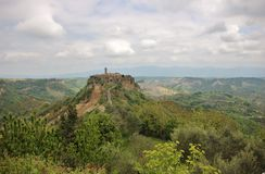 Civita di Bagnoregio, Italien Royaltyfri Bild