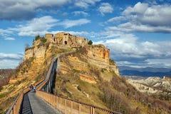 Civita di Bagnoregio, Latium, Italie Images libres de droits
