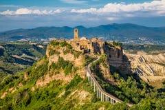 Civita Di Bagnoregio, Lazio, Italië Royalty-vrije Stock Foto's