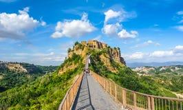 Civita Di Bagnoregio, Lazio, Italië Stock Afbeeldingen