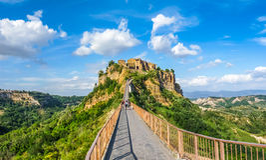 Civita di Bagnoregio, Lazio, Italien Stockbilder