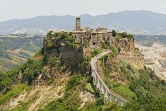 Civita Di Bagnoregio: piękny barwiarski miasteczko w Lazio, Włochy Zdjęcia Royalty Free