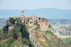 Civita di Bagnoregio Royalty Free Stock Images