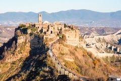 Civita Di bagnoregio, stervende stad royalty-vrije stock fotografie