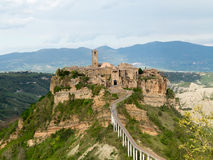 Civita di Bagnoregio The town that is dying. Civita di Bagnoregio in Italy is an example of a medieval city relatively untouched by modern life. Known as ' stock image