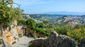 Civita di Bagnoregio, the famous `dying city` in Viterbo Province, Lazio Italy. royalty free stock photography