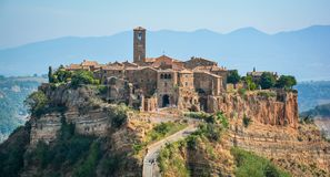 Civita di Bagnoregio, the famous `dying city` in Viterbo Province, Lazio Italy. stock images