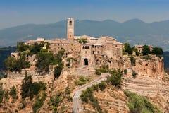 Civita di Bagnoregio, Viterbo Италия Стоковые Изображения RF