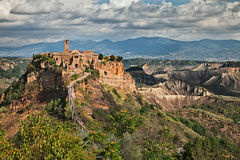 Civita di Bagnoregio, Viterbo, Lazio, Italy: landscape at twilig Stock Photo