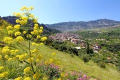 Civita panoramic view , Calabria , Italy royalty free stock photo