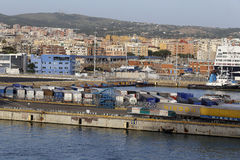 Civitavecchia port Royaltyfria Bilder