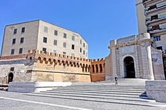 Civitavecchia gate Livorno. Civitavecchia,Rome,Italy To facilitate access to Port to those coming from the northern side of the city, Pope Clement XIII opened stock photos