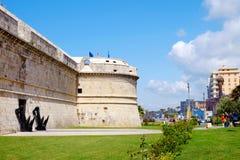 CIVITAVECCHIA, WŁOCHY, KWIECIEŃ 25, 2017 - fort Michelangelo Zdjęcie Stock