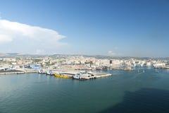 civitavecchiaitaly port Royaltyfria Bilder
