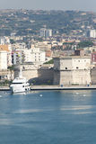 civitavecchiaitaly port Arkivfoto