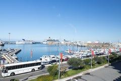 civitavecchiaitaly port Royaltyfri Fotografi