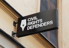 Civli выпрямляет защитников стоковое изображение rf