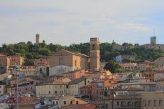 Ciy en kerk Ancona, Italië stock afbeeldingen