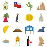 Cjile travel icons set vector flat. Cjile travel icons set. Flat illustration of 16 Cjile travel vector icons isolated on white background Stock Illustration