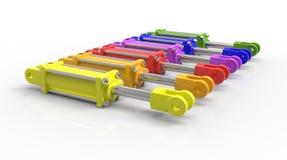 Cjoice pour le cric hydraulique coloré illustration de vecteur