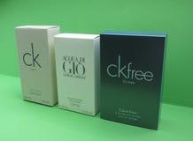 Ck and Armani eau de toilette Stock Photos