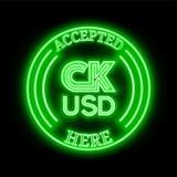CK USD CKUSD keurden hier teken goed stock illustratie