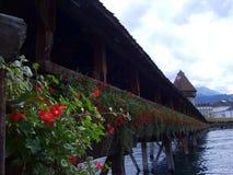 Cke ¼ Kapellbrà моста часовни в Люцерне стоковые фото