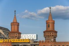 Cke de ¼ d'Oberbaumbrà à Berlin Photo libre de droits