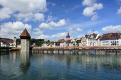 Cke de ¼ de Kapellbrà de Lucerne Photographie stock libre de droits