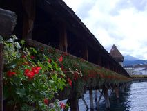 Cke del ¼ di Kapellbrà del ponte della cappella in Lucerna Fotografie Stock