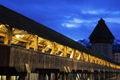 Cke del ¼ de Kapellbrà en Alfalfa en Suiza Fotografía de archivo