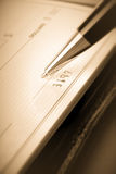 Ckeck en blanco Foto de archivo