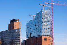 ¼ cken-Elbphilharmonie-III-Hamburgo de Landungsbrà fotografia de stock