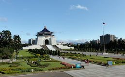 CKS Hall. A wide angle shot Chiang Kai-Shek (CKS) memorial hall and the surrounding garden in Taipei Royalty Free Stock Image