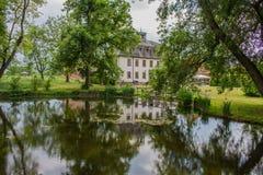 Cksbrunn del ¼ de Wilhelmsglà del estado del monasterio en el valle del werra foto de archivo