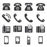 Clássico do telefone do ícone ao smartphone Imagem de Stock