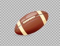 Clássico realístico bonito, bola de rugby, jogando o futebol, ocupação coletiva ilustração royalty free