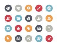 Clássicos de //dos ícones da Web imagem de stock