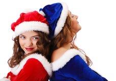 Cláusulas adolescentes felizes de Santa foto de stock royalty free