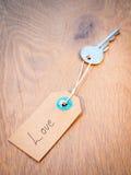 Clé à l'amour Photographie stock libre de droits