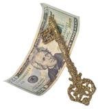 Clé à la réussite financière Photo libre de droits