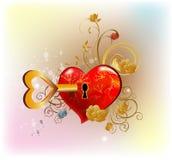 Clé à mon coeur Image libre de droits