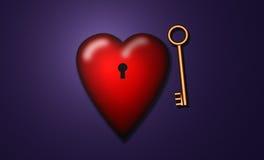 Clé à mon coeur Image stock