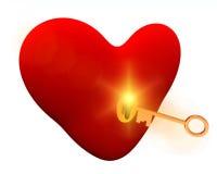 Clé à votre coeur Photos stock
