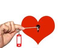 Clé à votre coeur Photo stock