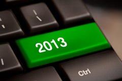 Clé 2013 sur le clavier Photographie stock libre de droits