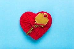 Clé au coeur et à l'amour Image libre de droits