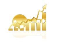 Clé au succès, graphique de gestion, réussite commerciale Image stock